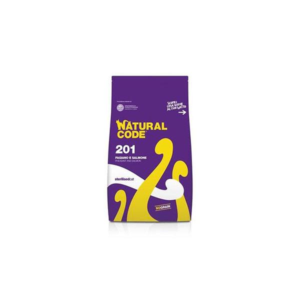 Foto principale Cibo per Gatti Sterilizzati Natural Code 201 Gusto Fagiano e Salmone 1,5kg