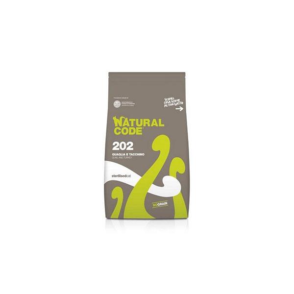 Foto principale Cibo per Gatti Sterilizzati Natural Code 202 Gusto Quaglia e Tacchino 1,5kg