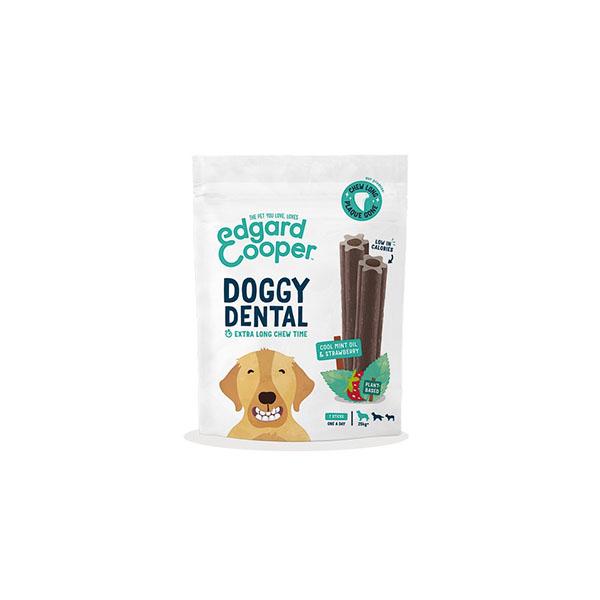 Foto principale Dental Stick per Cani Edgard & Cooper Doggy Dental Taglia Media Gusto Fragola e Menta 160gr