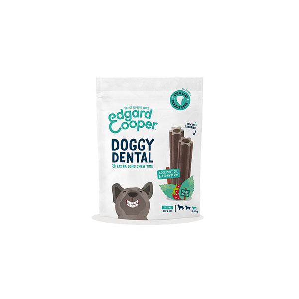 Foto principale Dental Stick per Cani Edgard & Cooper Doggy Dental Taglia Piccola Gusto Fragola e Menta 105gr