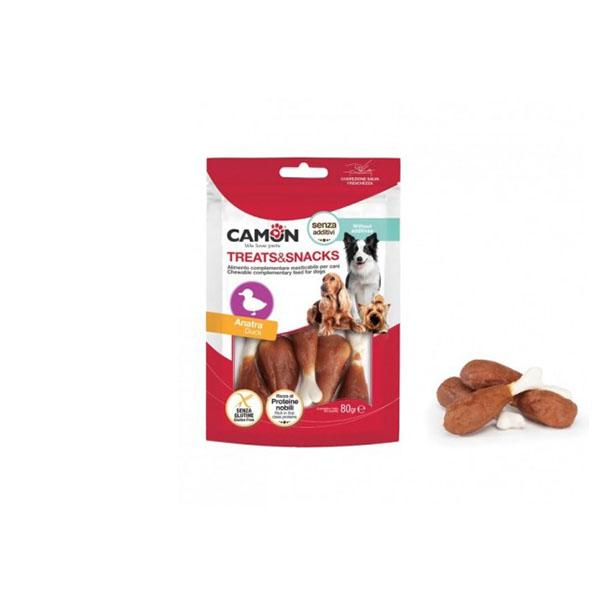 Foto principale Snack per Cani a Forma di Coscia d'Anatra Camon Gusto Anatra 80gr
