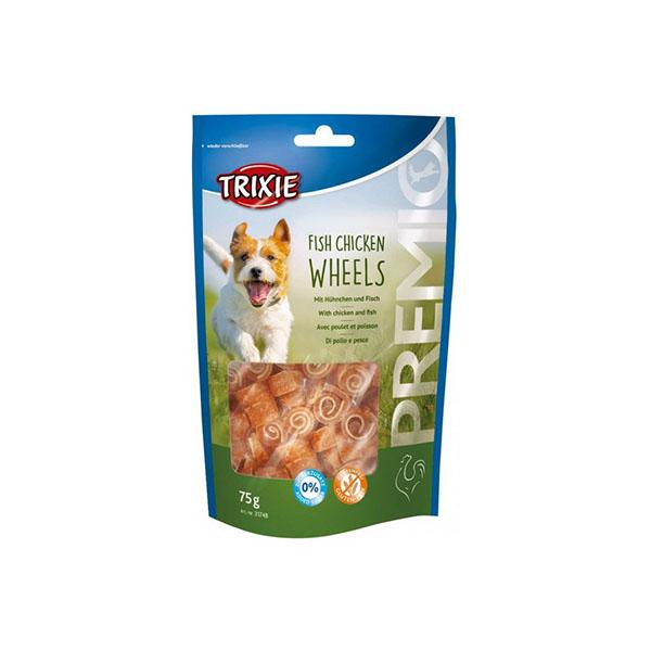 Foto principale Snack per Cani Trixie Premio Fish Chicken Wheels Gusto Pollo e Merluzzo Giallo 75gr