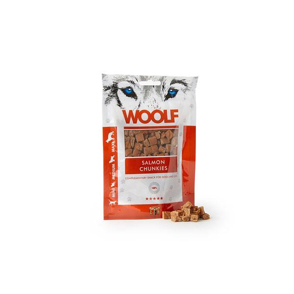 Foto principale Snack per Cani Woolf Gusto Salmone e Piselli 100gr