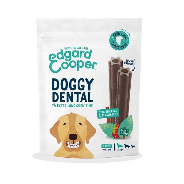 Foto principale Dental Stick per Cani Edgard & Cooper Doggy Dental Taglia Grande Gusto Fragola e Menta 240gr